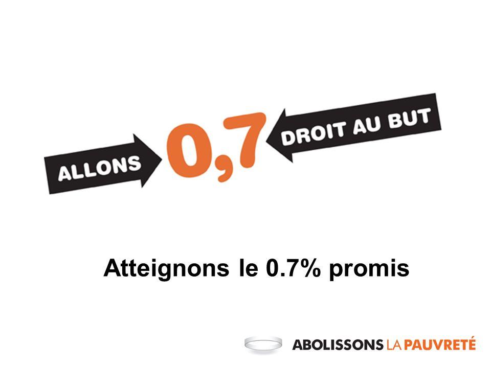 Atteignons le 0.7% promis