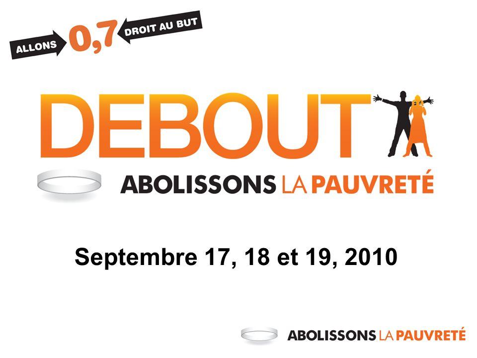 Septembre 17, 18 et 19, 2010