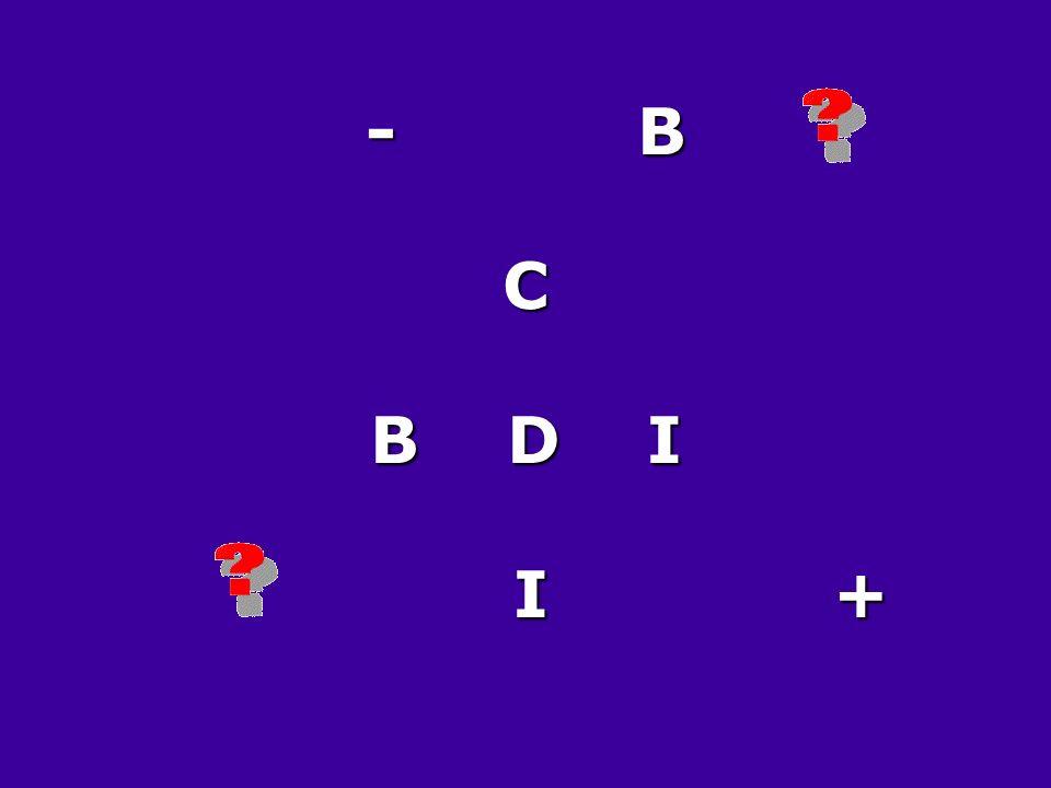 - B C B D I I +