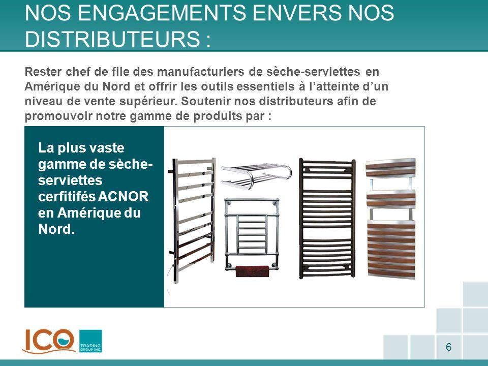 CONNAISSANCES DU PRODUIT – KONTOUR : 37 Informations générales La gamme de sèche-serviettes Kontour ne peut être installé en sens inversé verticalement (tête en bas).