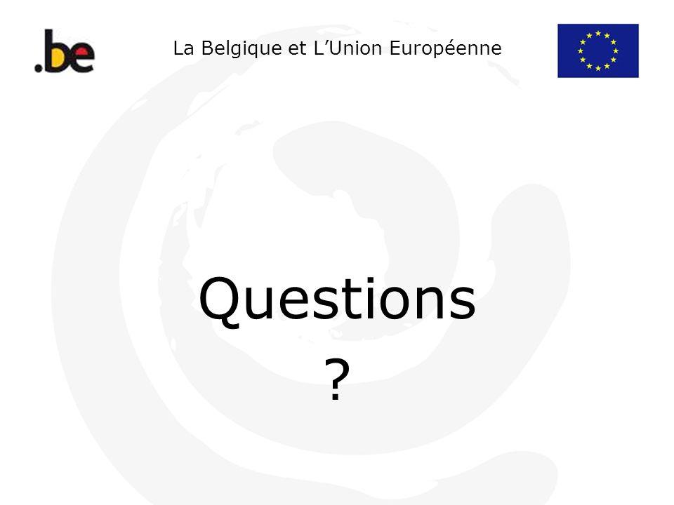 La Belgique et LUnion Européenne Questions ?