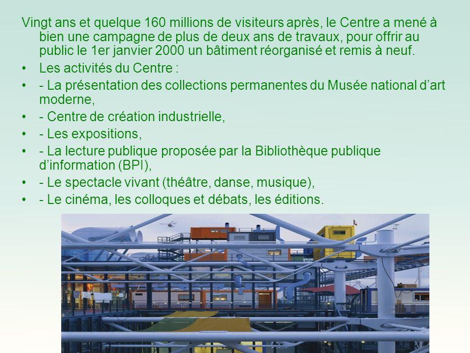 Vingt ans et quelque 160 millions de visiteurs après, le Centre a mené à bien une campagne de plus de deux ans de travaux, pour offrir au public le 1e