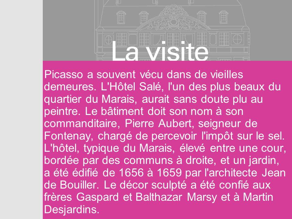 Picasso a souvent vécu dans de vieilles demeures. L'Hôtel Salé, l'un des plus beaux du quartier du Marais, aurait sans doute plu au peintre. Le bâtime