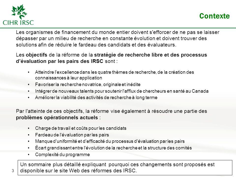 14 Quelles sont les exigences relatives à la demande pour le volet Fondation.