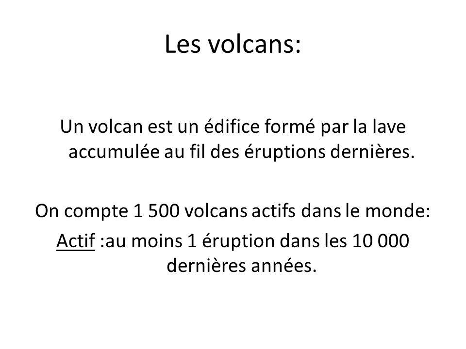 Ou trouve t-on les volcans: les volcans forment des lignes correspondant aux limites des plaques tectoniques car cest là que lécorce terrestre bouge le plus.