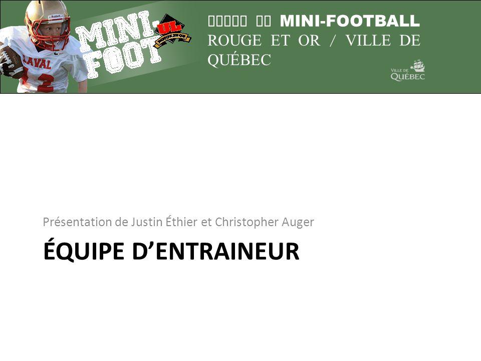 LIGUE DE MINI-FOOTBALL ROUGE ET OR / VILLE DE QUÉBEC Médicaments Attention présences de guêpes sur le terrain.
