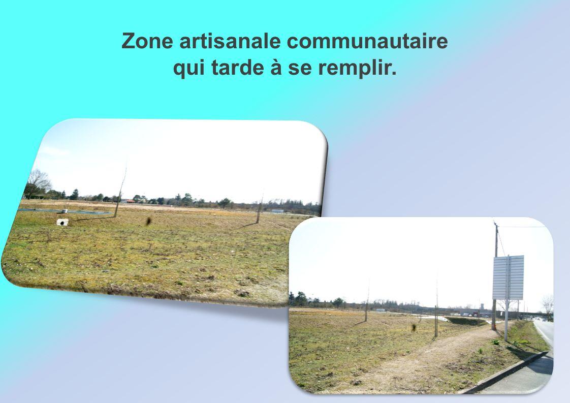 Zone artisanale communautaire qui tarde à se remplir.