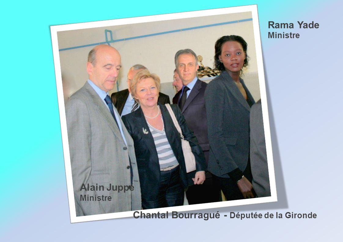 Alain Juppé Ministre Rama Yade Ministre Chantal Bourragué - Députée de la Gironde