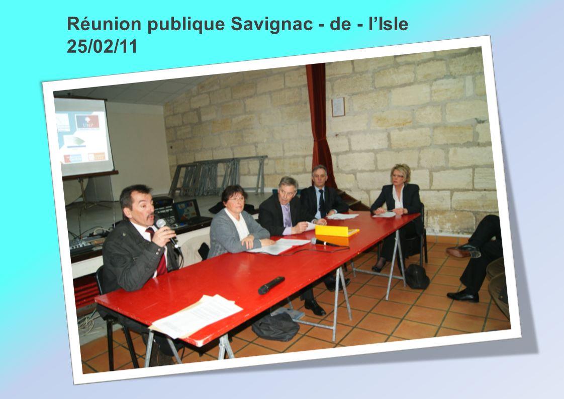 Réunion publique Savignac - de - lIsle 25/02/11