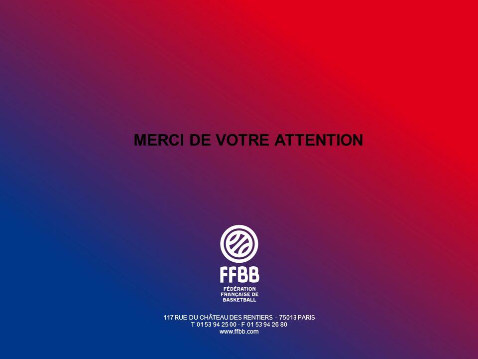 117 RUE DU CHÂTEAU DES RENTIERS - 75013 PARIS T 01 53 94 25 00 - F 01 53 94 26 80 www.ffbb.com MERCI DE VOTRE ATTENTION