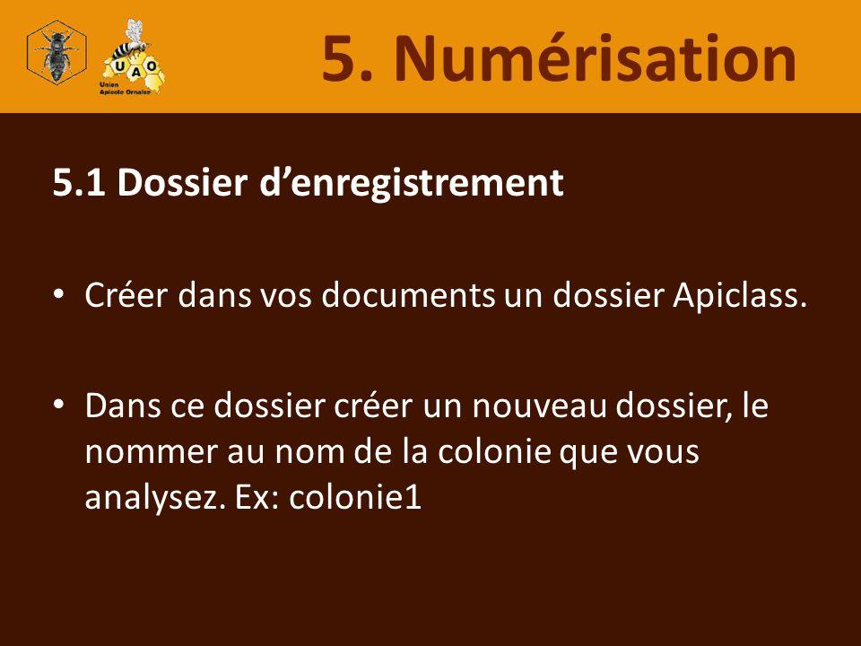5.1 Dossier denregistrement Créer dans vos documents un dossier Apiclass. Dans ce dossier créer un nouveau dossier, le nommer au nom de la colonie que