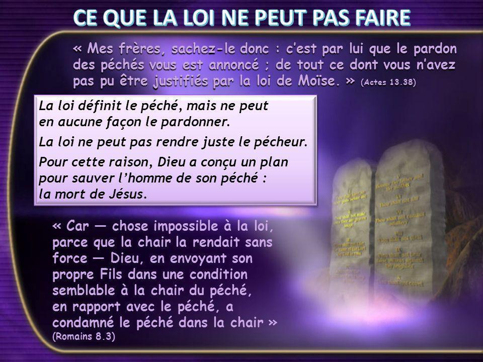 « Le Christ nous a rachetés de la malédiction de la loi en devenant malédiction pour nous car il est écrit : Maudit soit quiconque est pendu au bois.