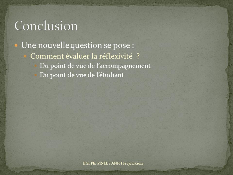 Une nouvelle question se pose : Comment évaluer la réflexivité .