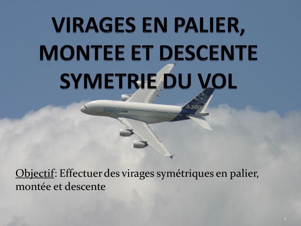 Objectif: Effectuer des virages symétriques en palier, montée et descente 1