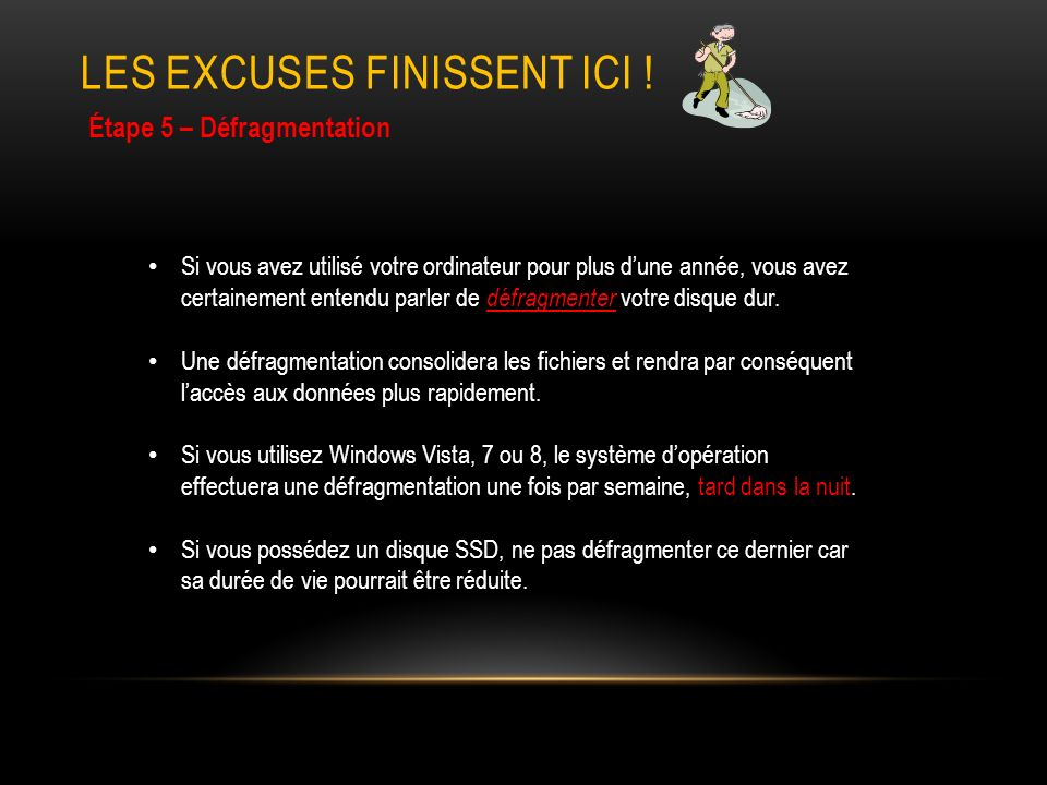 LES EXCUSES FINISSENT ICI .