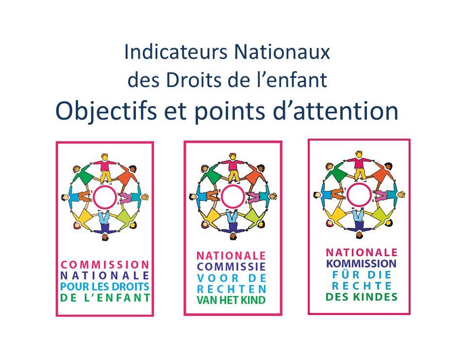 Indicateurs Nationaux des Droits de lenfant Objectifs et points dattention
