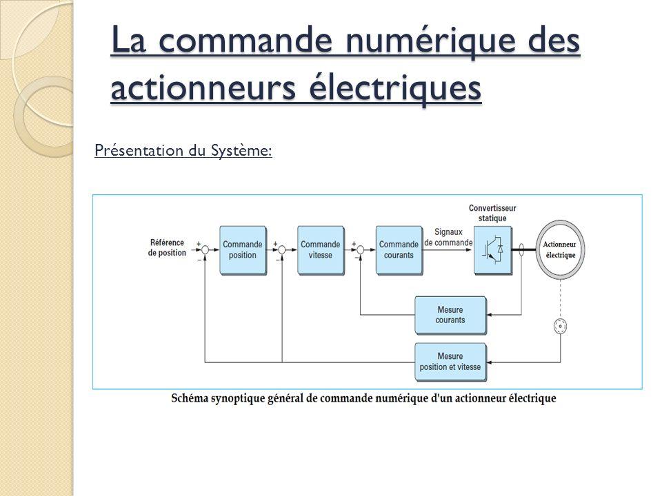 La commande numérique des actionneurs électriques Présentation du Système: