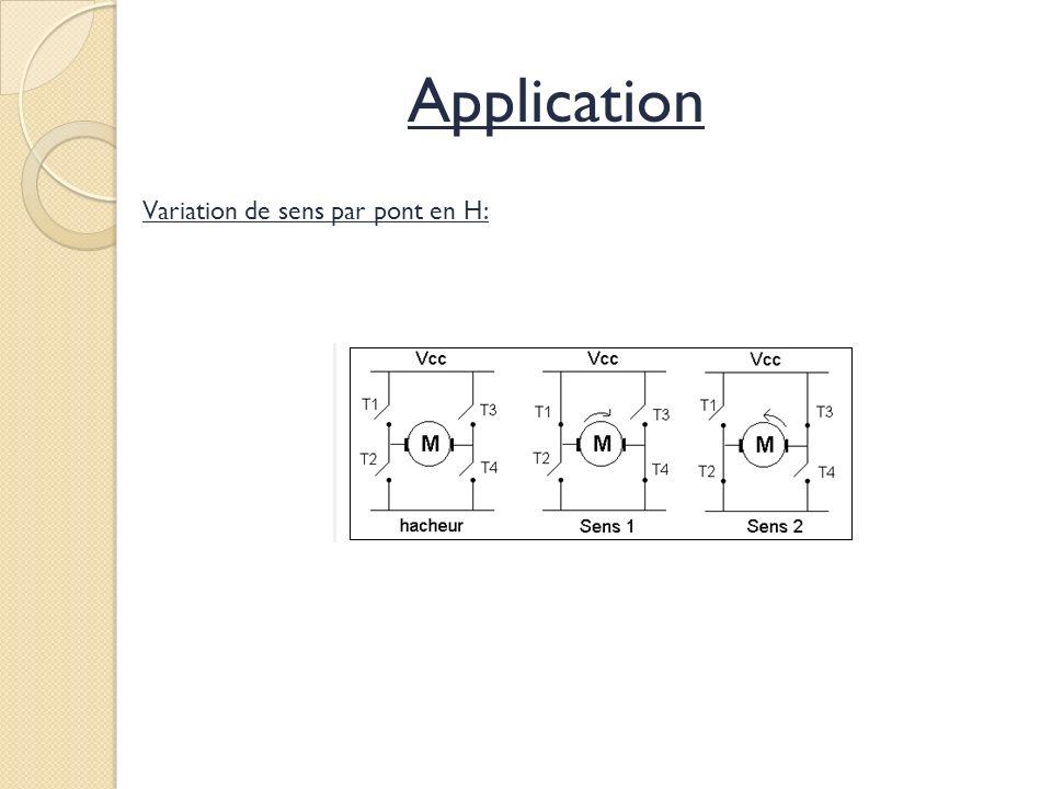 Variation de sens par pont en H: Application