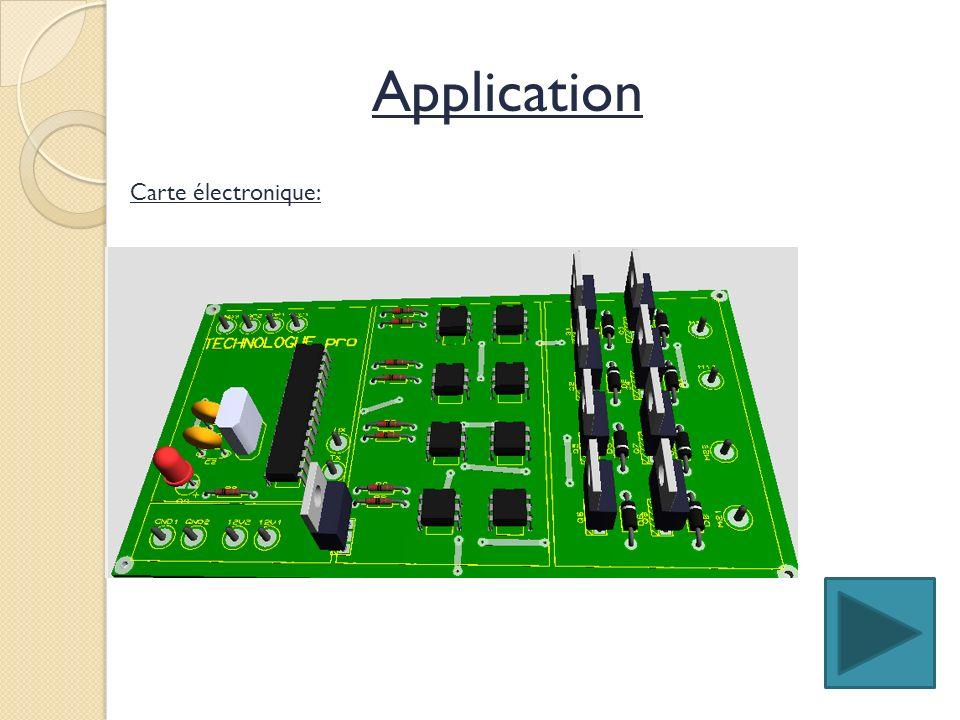 Carte électronique: Application