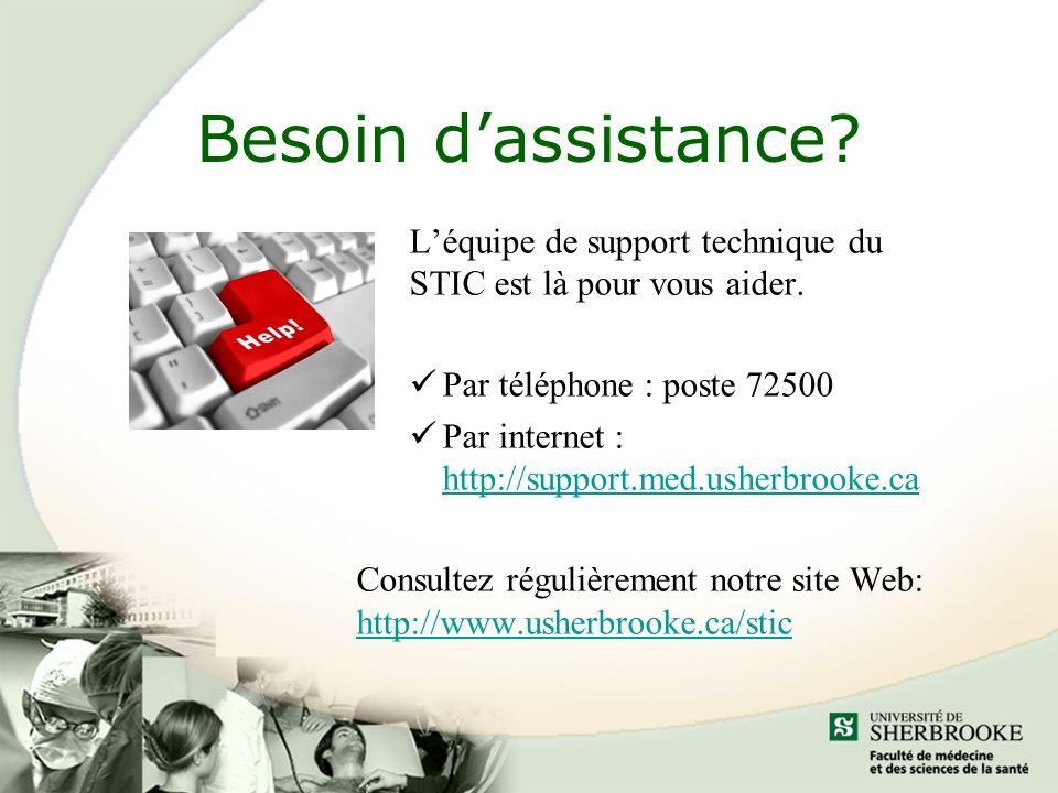Besoin dassistance.Léquipe de support technique du STIC est là pour vous aider.