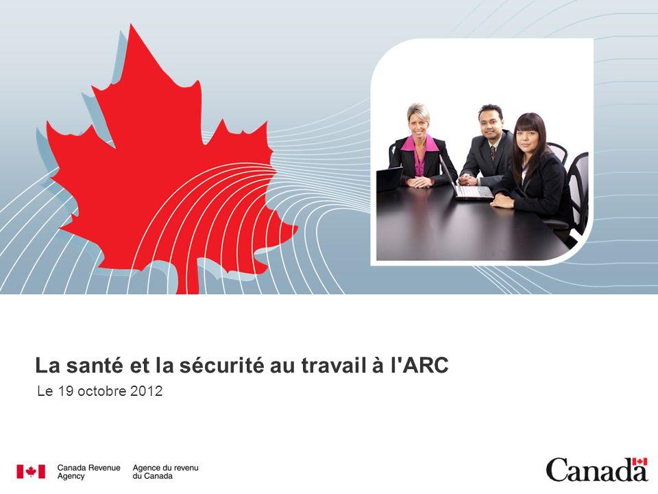 Ressources sur le Web à lARC Allez à « Ma zone » et sélectionnez « Santé et sécurité au travail » 12