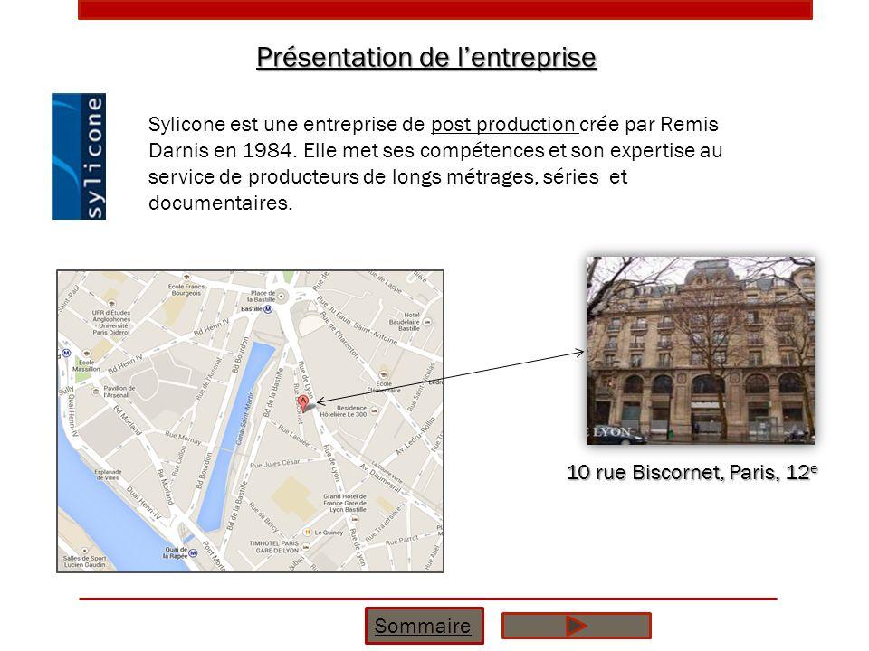Présentation de lentreprise Sommaire 10 rue Biscornet, Paris, 12 e Sylicone est une entreprise de post production crée par Remis Darnis en 1984. Elle