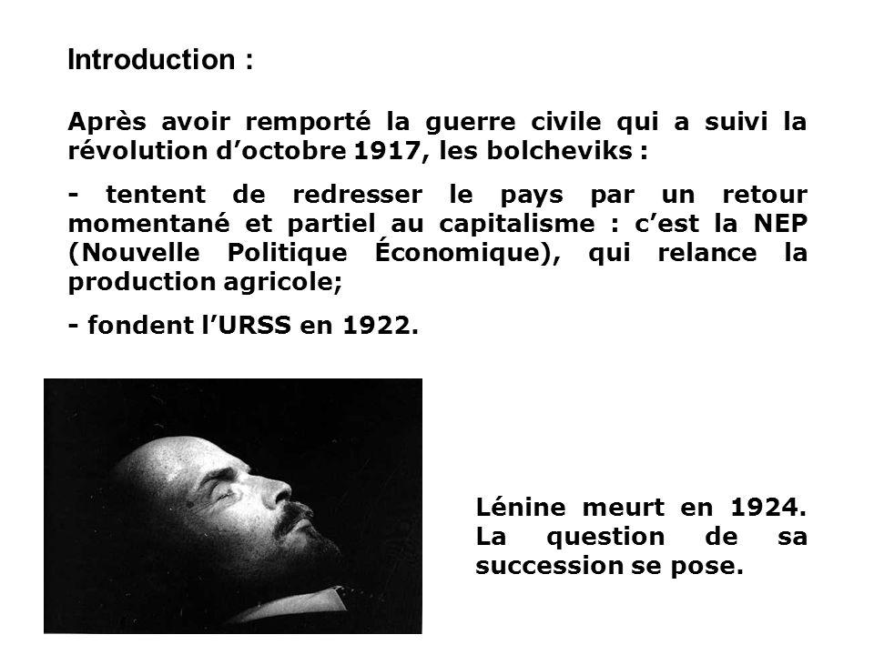 LURSS DE STALINE 1929-1941 I. Lire une image de propagande II. La collectivisation de léconomie III. Un régime totalitaire