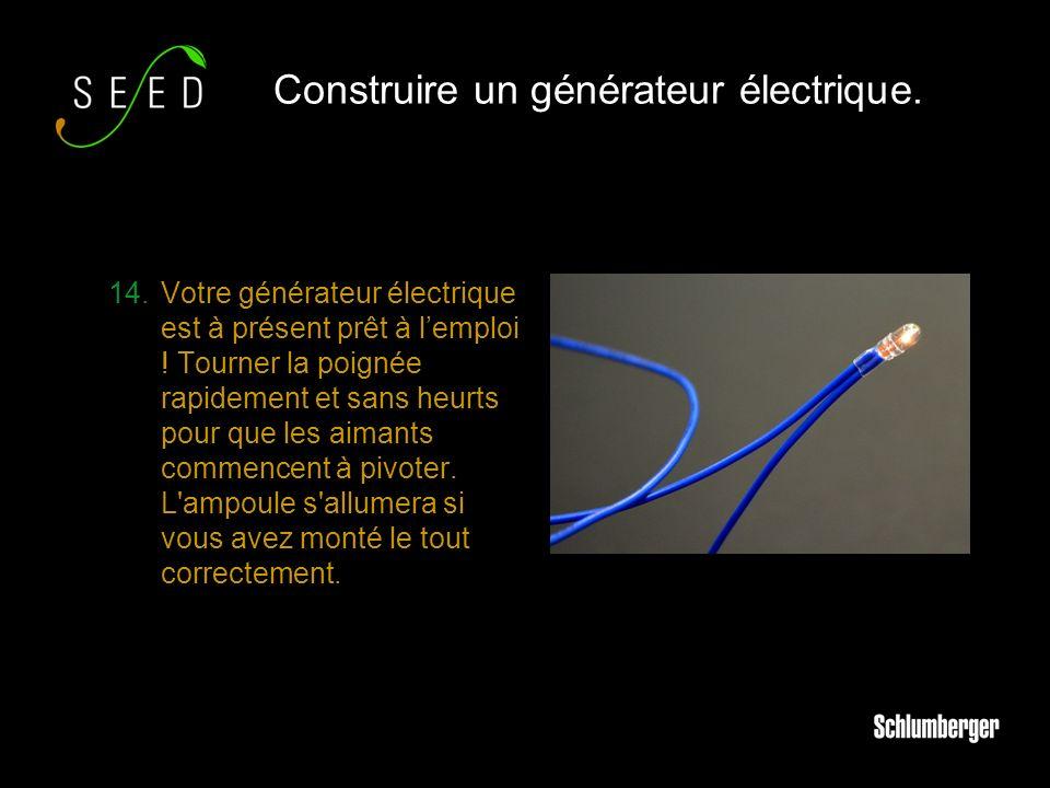 14.Votre générateur électrique est à présent prêt à lemploi .