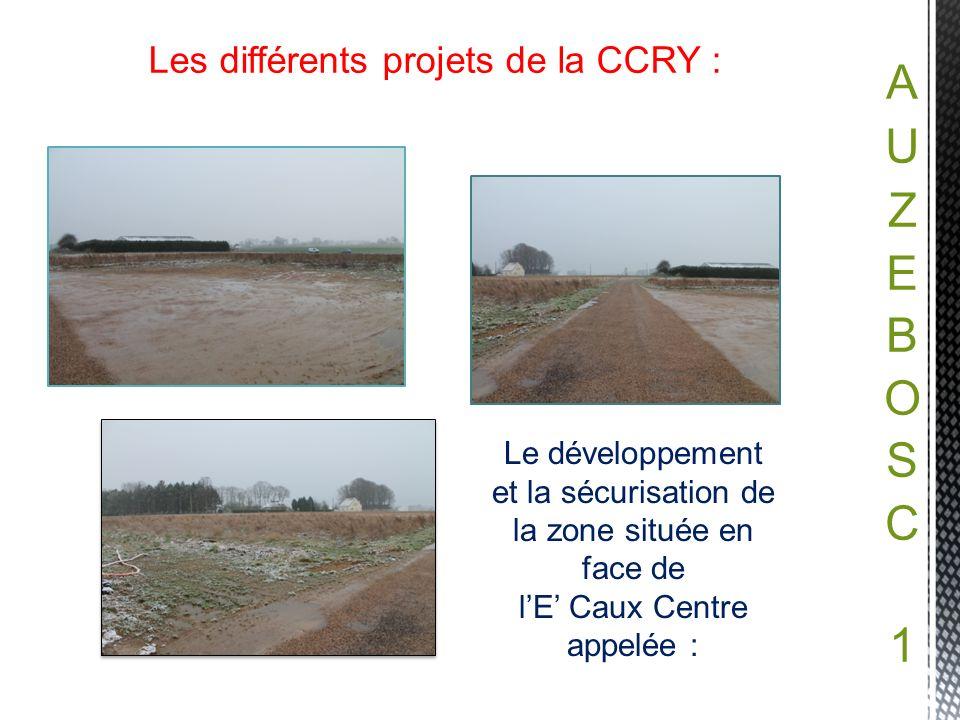Les différents projets de la CCRY : Le développement et la sécurisation de la zone située en face de lE Caux Centre appelée :
