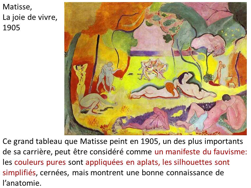Ce grand tableau que Matisse peint en 1905, un des plus importants de sa carrière, peut être considéré comme un manifeste du fauvisme: les couleurs pu