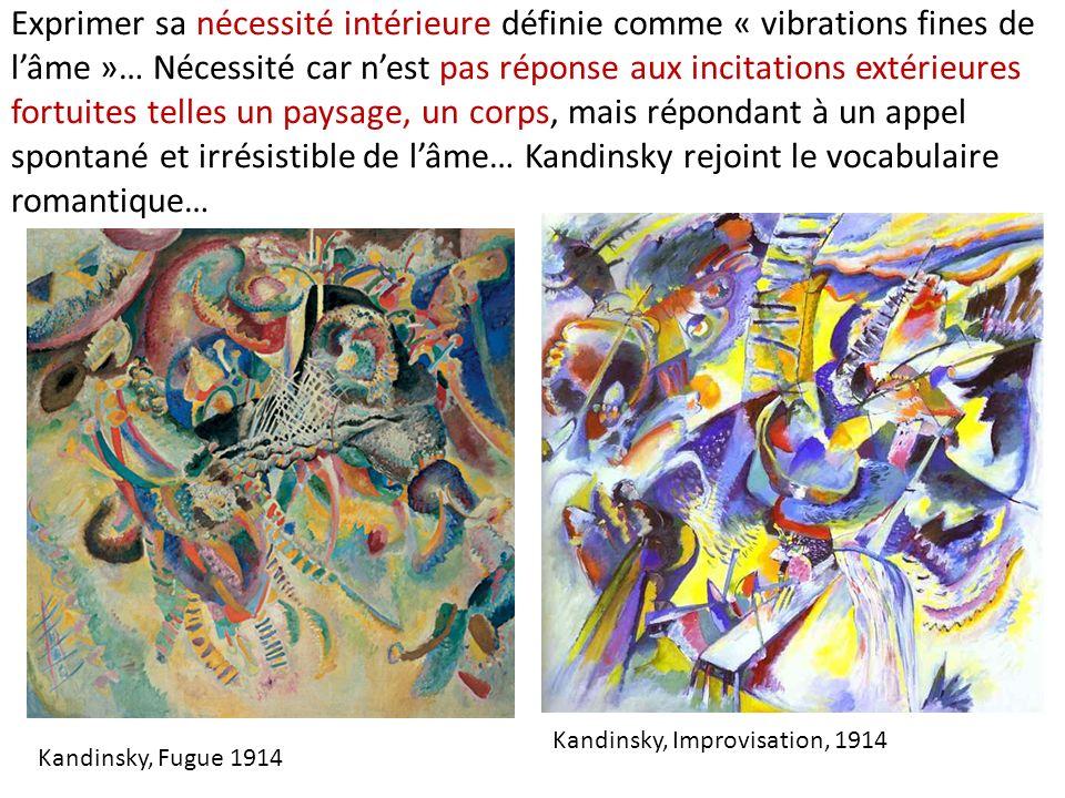 Exprimer sa nécessité intérieure définie comme « vibrations fines de lâme »… Nécessité car nest pas réponse aux incitations extérieures fortuites tell