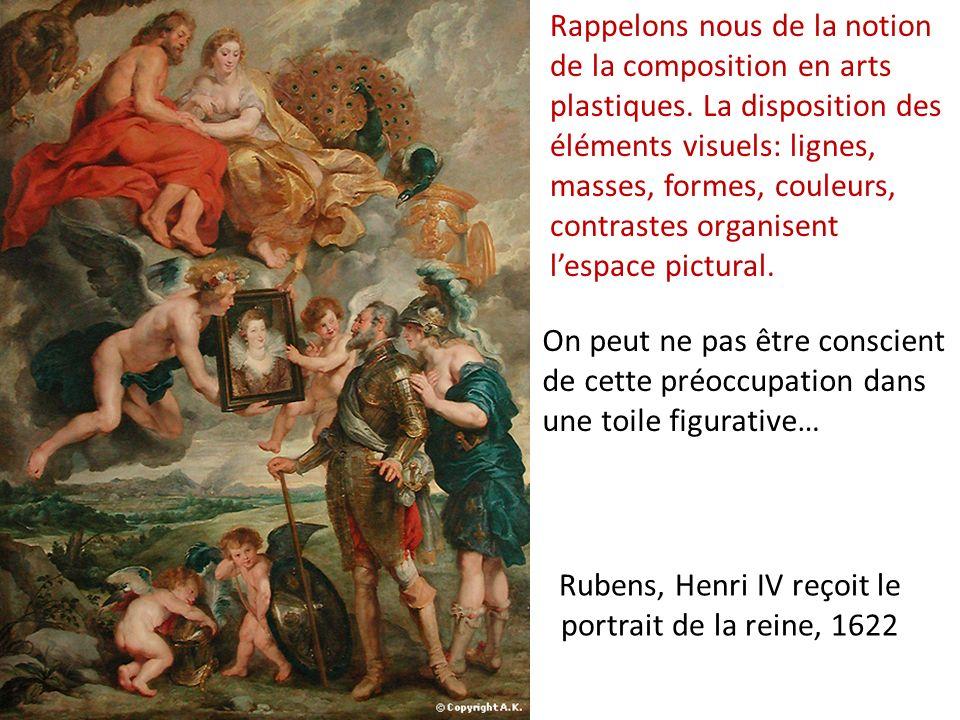 Rubens, Henri IV reçoit le portrait de la reine, 1622 Rappelons nous de la notion de la composition en arts plastiques. La disposition des éléments vi