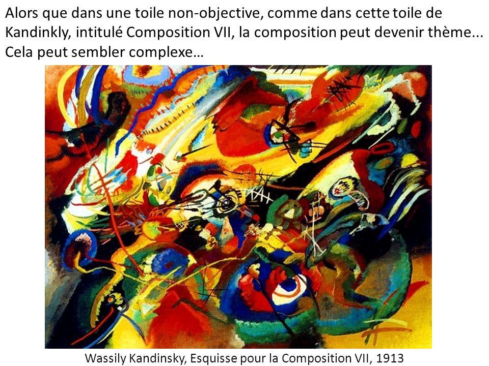 Wassily Kandinsky, Esquisse pour la Composition VII, 1913 Alors que dans une toile non-objective, comme dans cette toile de Kandinkly, intitulé Compos