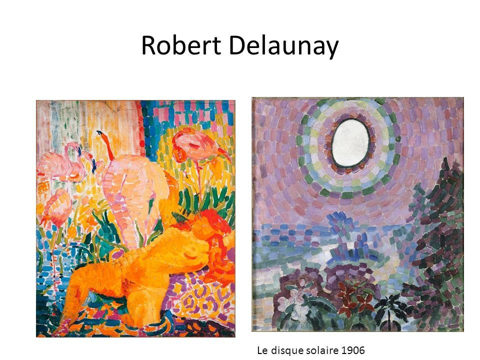 La couleur est lélément essentiel de la structure de ce tableau.