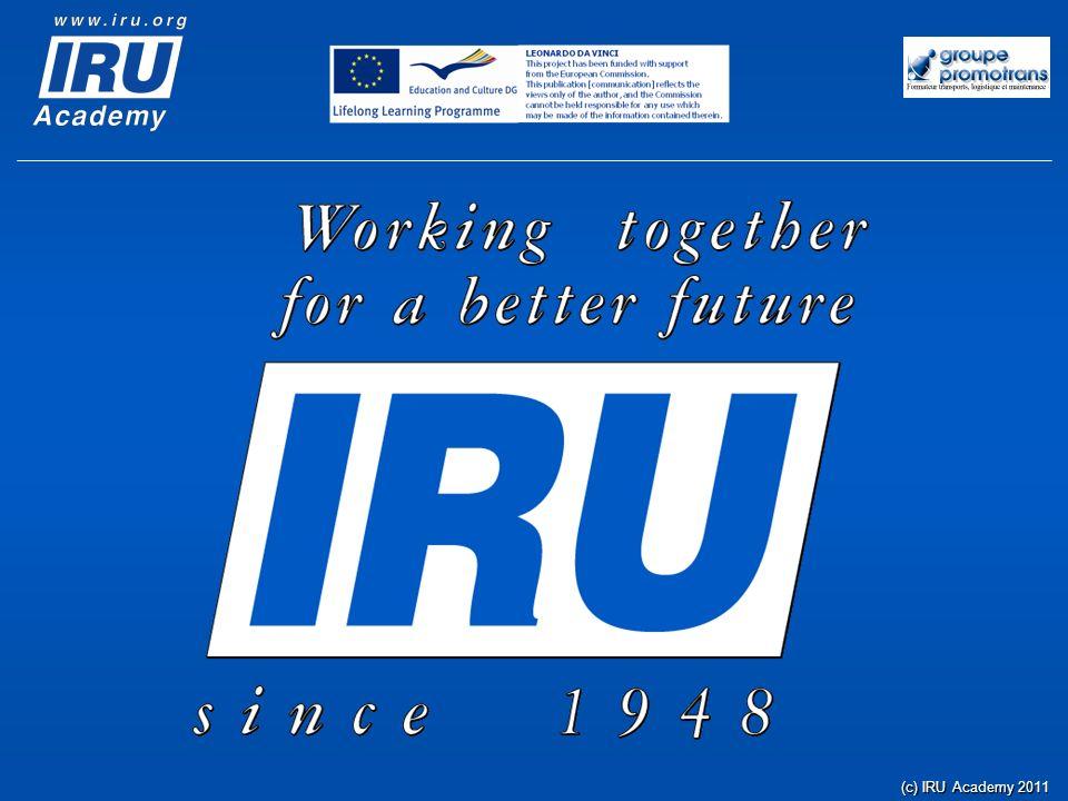(c) IRU Academy 2011