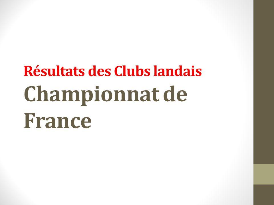 Résultats des Clubs landais Championnat de France