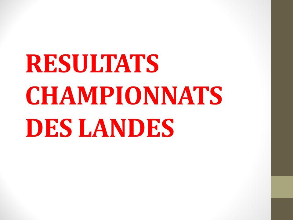 RESULTATS CHAMPIONNATS DES LANDES