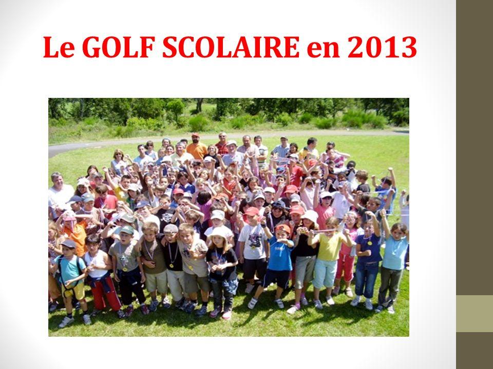 Le GOLF SCOLAIRE en 2013