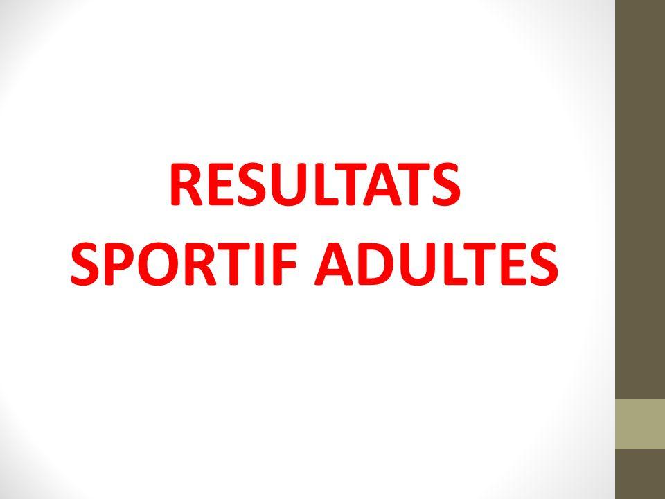 RESULTATS SPORTIF ADULTES