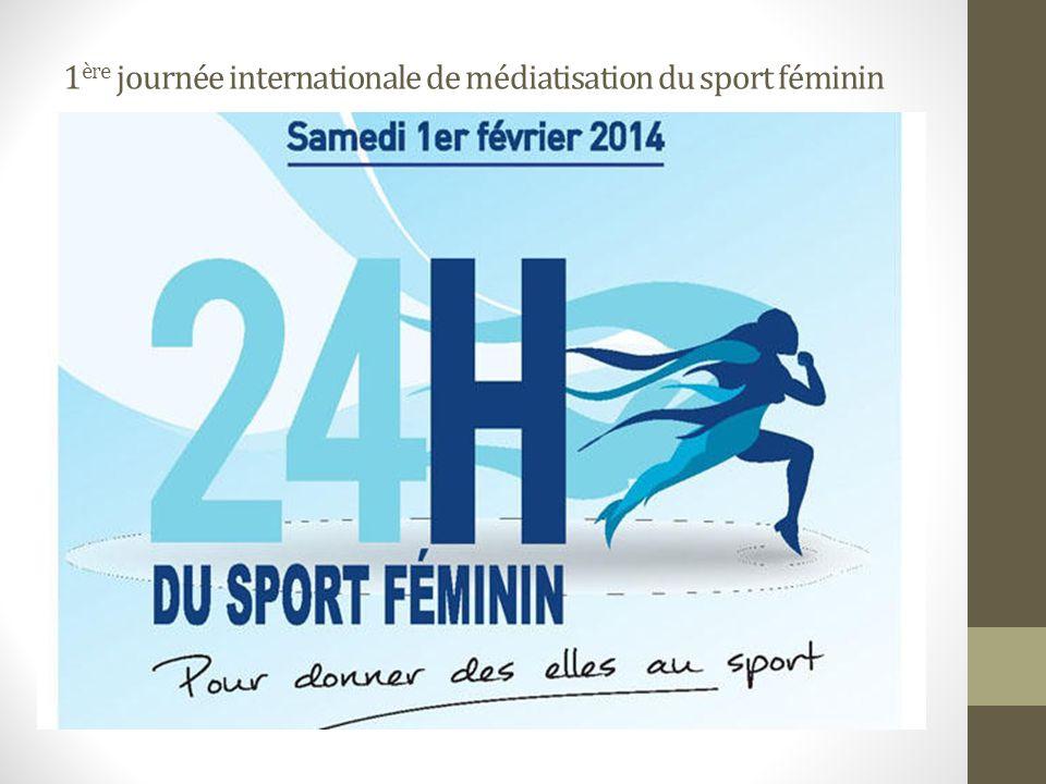 1 ère journée internationale de médiatisation du sport féminin