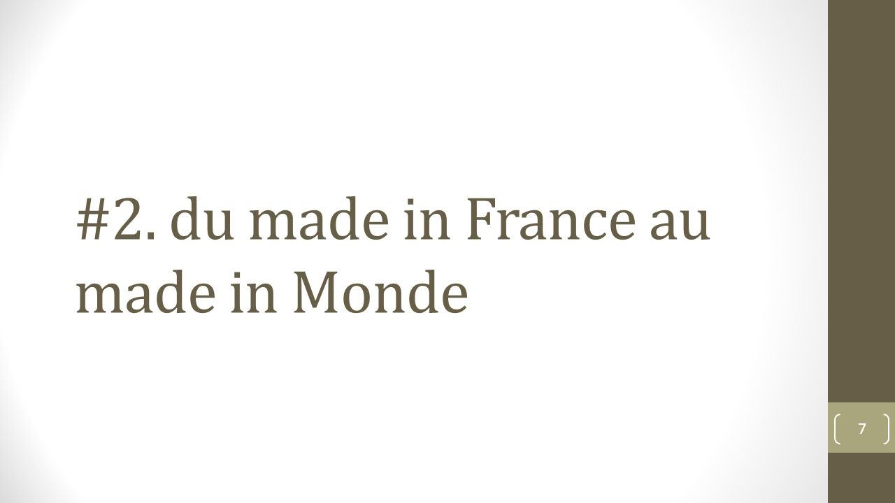 #2. du made in France au made in Monde 7