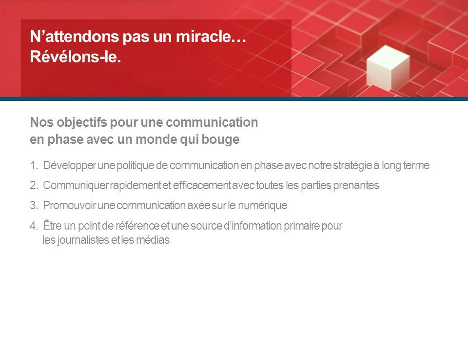 Communiquer, partager, échanger… Nattendons pas un miracle… Portail FEB Révélons-le.