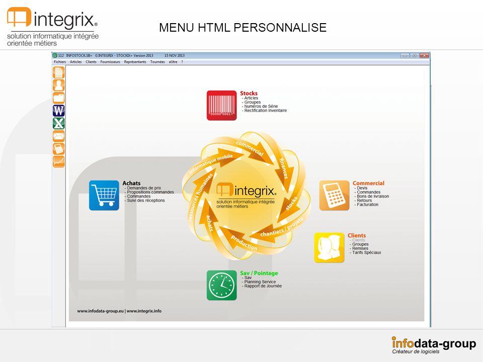 STOCKIX+ version 2014 La gestion des SAVs/Tâches Tableau de bord de mes tâches à louverture de lapplication.