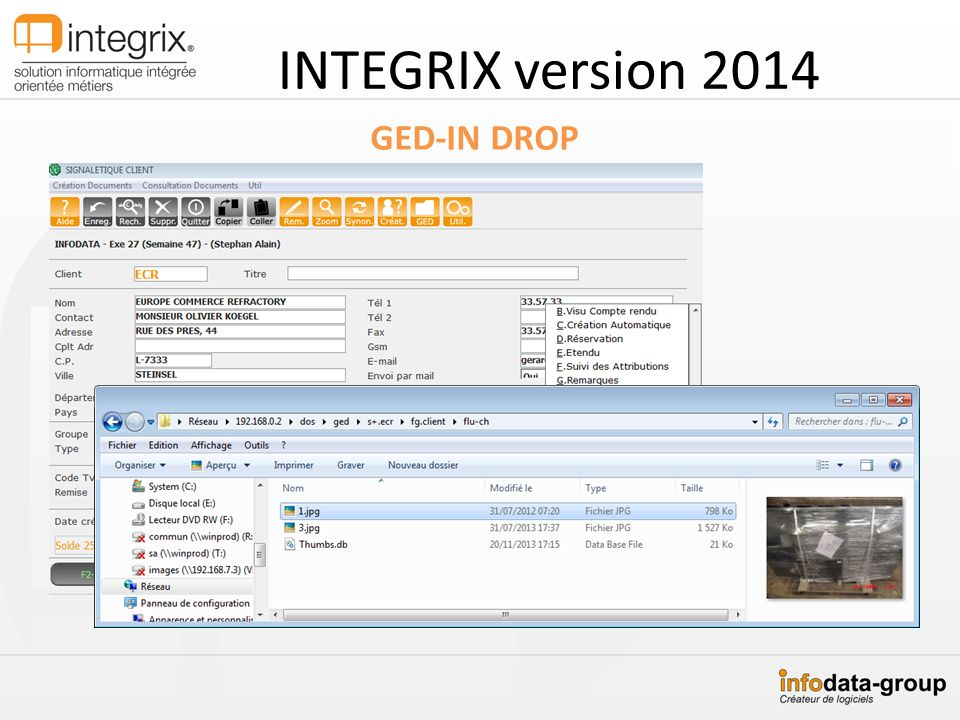 GED-IN DROP INTEGRIX version 2014