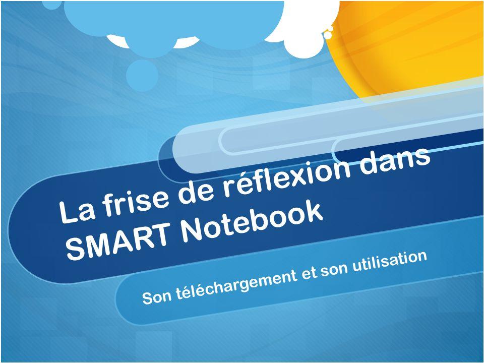 La frise de réflexion dans SMART Notebook Son téléchargement et son utilisation