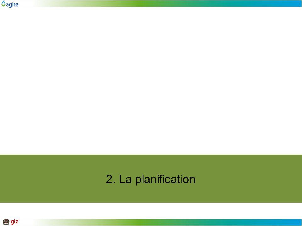 2. La planification