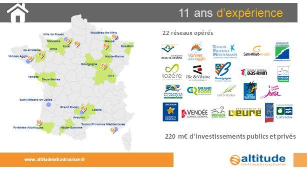 11 ans dexpérience 22 réseaux opérés 220 m d'investissements publics et privés