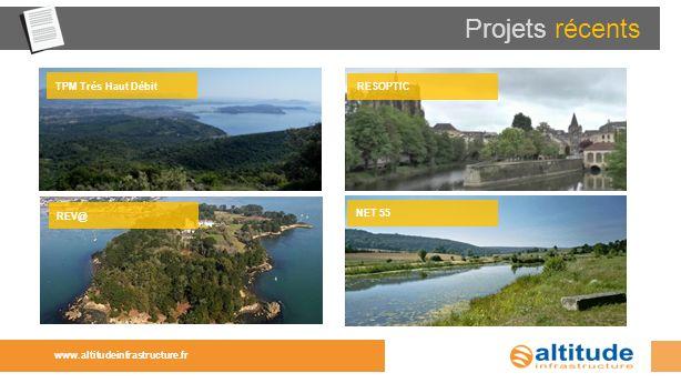 Projets récents www.altitudeinfrastructure.fr NET 55 REV@ TPM Trés Haut Débit RESOPTIC
