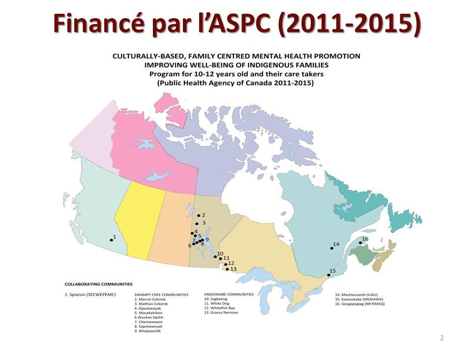 Financé par lASPC (2011-2015) 2