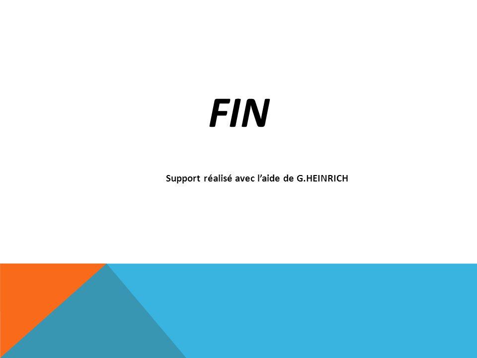 FIN Support réalisé avec laide de G.HEINRICH